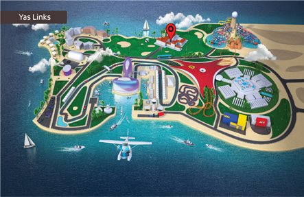 Yas Links Abu Dhabi - Map