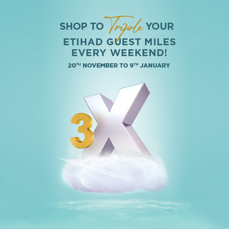 Get Triple Etihad Guest Miles On Weekends!